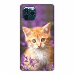 """Coque Iphone 11 Pro Max (6,5"""") Chat Violet"""