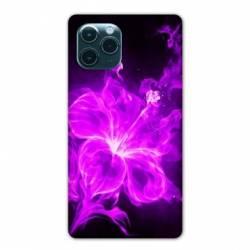"""Coque Iphone 11 Pro Max (6,5"""") fleur hibiscus violet"""