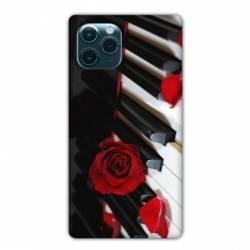 """Coque Iphone 11 Pro Max (6,5"""") Musique Rose Piano"""