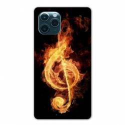 """Coque Iphone 11 Pro Max (6,5"""") Musique clé sol feu N"""