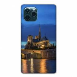 "Coque Iphone 11 Pro Max (6,5"") France Notre Dame Paris night"
