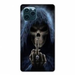 """Coque Iphone 11 Pro Max (6,5"""") tete de mort Doigt"""