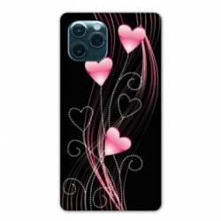 """Coque Iphone 11 Pro Max (6,5"""") Cœur rose Montant"""