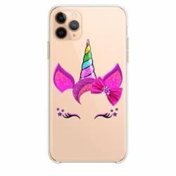 """Coque transparente Iphone 11 (5,8"""") Licorne paillette"""