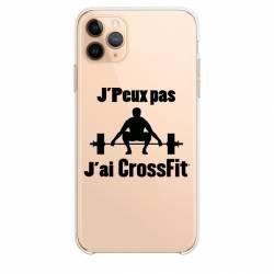"""Coque transparente Iphone 11 (5,8"""") jpeux pas jai crossfit"""