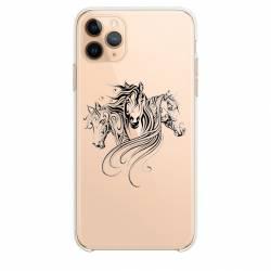 """Coque transparente Iphone 11 (5,8"""") chevaux"""