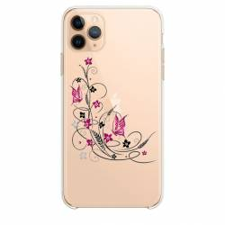 "Coque transparente Iphone 11 Pro (6,1"") feminine fleur papillon"