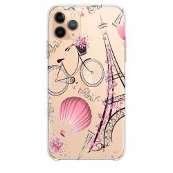 "Coque transparente Iphone 11 Pro Max (6,5"") Paris mongolfiere"