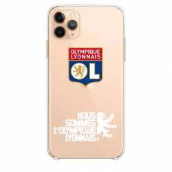 "Coque transparente Iphone 11 Pro Max (6,5"") Licence Olympique Lyonnais - double face"