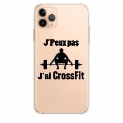 "Coque transparente Iphone 11 Pro Max (6,5"") jpeux pas jai crossfit"