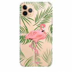 "Coque transparente Iphone 11 Pro Max (6,5"") Flamant Rose"