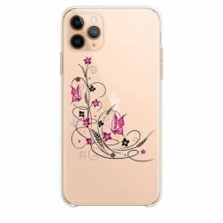 """Coque transparente Iphone 11 Pro Max (6,5"""") feminine fleur papillon"""