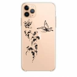 """Coque transparente Iphone 11 Pro Max (6,5"""") feminine envol fleur"""