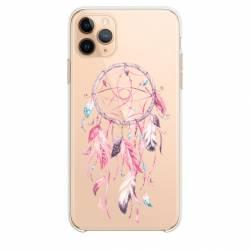 "Coque transparente Iphone 11 Pro Max (6,5"") feminine attrape reve rose"