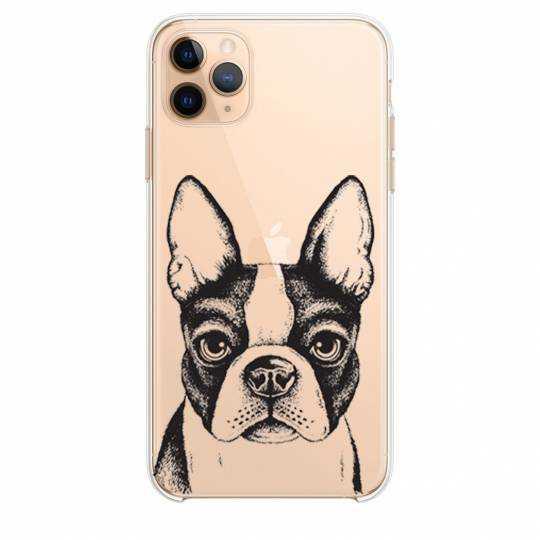 """Coque transparente Iphone 11 Pro Max (6,5"""") Bull dog"""