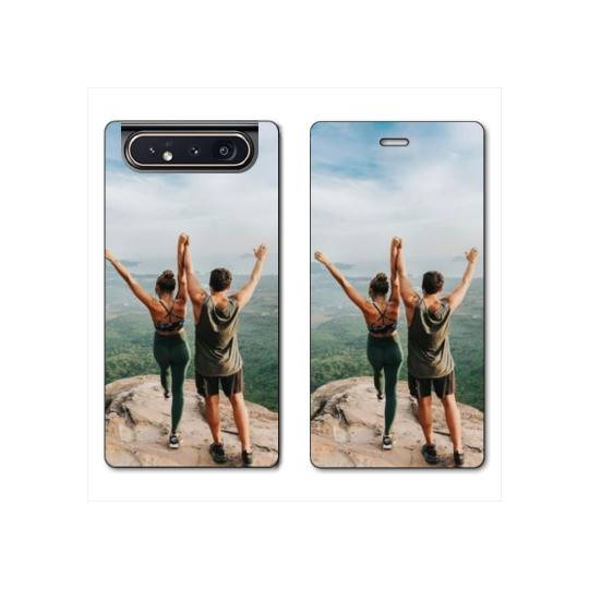 RV Housse cuir portefeuille Samsung Galaxy A80 personnalisee recto / verso