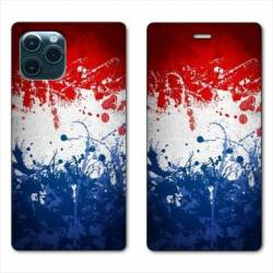 "RV Housse cuir portefeuille Iphone 11 (5,8"") France Eclaboussure"