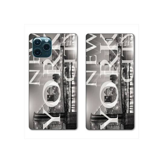 """RV Housse cuir portefeuille Iphone 11 (5,8"""") Amerique USA New York"""