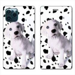 """RV Housse cuir portefeuille Iphone 11 (5,8"""") Chien dalmatien"""