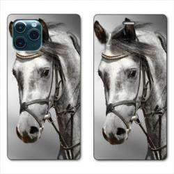 """RV Housse cuir portefeuille Iphone 11 (5,8"""") Cheval"""