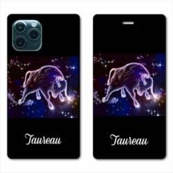 "RV Housse cuir portefeuille Iphone 11 (5,8"") signe zodiaque Taureau2"