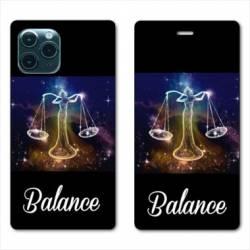 "RV Housse cuir portefeuille Iphone 11 (5,8"") signe zodiaque Balance2"