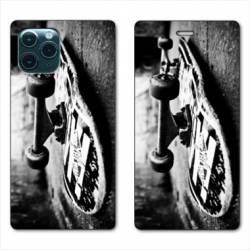 "RV Housse cuir portefeuille Iphone 11 (5,8"") Skate Vintage"