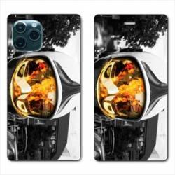 """RV Housse cuir portefeuille Iphone 11 (5,8"""") pompier casque feu"""