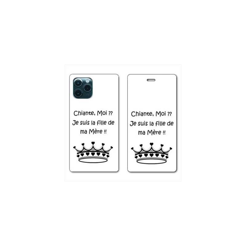 Coque iPhone 11Chats Drôles Exquis Cuir Premium Porte