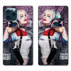 "RV Housse cuir portefeuille Iphone 11 (5,8"") Harley Quinn Batte"