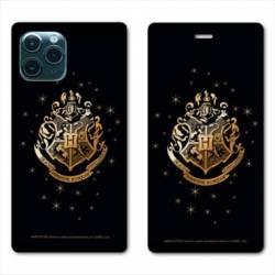 "RV Housse cuir portefeuille Iphone 11 (5,8"") WB License harry potter pattern Poudlard"