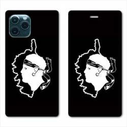 """RV Housse cuir portefeuille Iphone 11 Pro (6,1"""") Corse"""