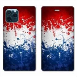 "RV Housse cuir portefeuille Iphone 11 Pro (6,1"") France Eclaboussure"