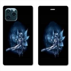 "RV Housse cuir portefeuille Iphone 11 Pro (6,1"") Fee Bleu"