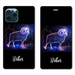 """RV Housse cuir portefeuille Iphone 11 Pro (6,1"""") signe zodiaque Bélier2"""