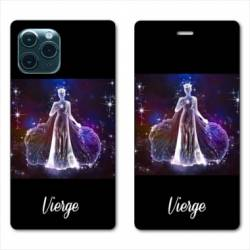 "RV Housse cuir portefeuille Iphone 11 Pro (6,1"") signe zodiaque Vierge2"