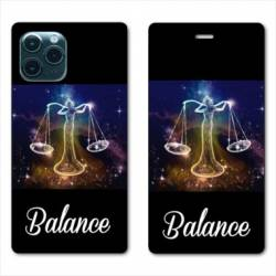 "RV Housse cuir portefeuille Iphone 11 Pro (6,1"") signe zodiaque Balance2"