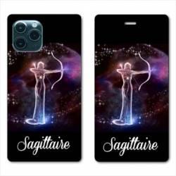 "RV Housse cuir portefeuille Iphone 11 Pro (6,1"") signe zodiaque Sagittaire2"
