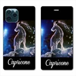 "RV Housse cuir portefeuille Iphone 11 Pro (6,1"") signe zodiaque Capricorne2"