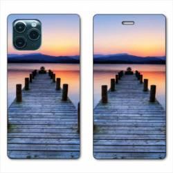 "RV Housse cuir portefeuille Iphone 11 Pro (6,1"") Ponton"