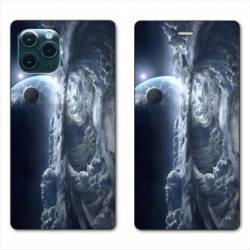 """RV Housse cuir portefeuille Iphone 11 Pro (6,1"""") Tunnel nuageux"""