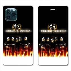 """RV Housse cuir portefeuille Iphone 11 Pro (6,1"""") pompier soldat"""