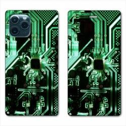 """RV Housse cuir portefeuille Iphone 11 Pro (6,1"""") Trompe œil composant"""