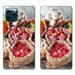 """RV Housse cuir portefeuille Iphone 11 Pro (6,1"""") Bonbon"""