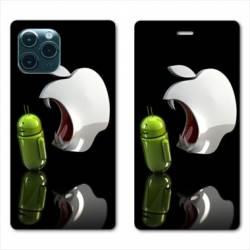 "RV Housse cuir portefeuille Iphone 11 Pro (6,1"") Pomme dent"