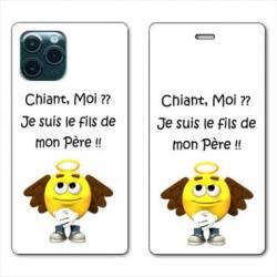 "RV Housse cuir portefeuille Iphone 11 Pro (6,1"") Humour Moi chiant"