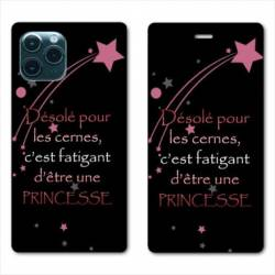 "RV Housse cuir portefeuille Iphone 11 Pro (6,1"") Humour princesse"