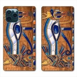 "RV Housse cuir portefeuille Iphone 11 Pro (6,1"") Egypte Papyrus"