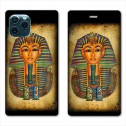 """RV Housse cuir portefeuille Iphone 11 Pro (6,1"""") Egypte Pharaon"""