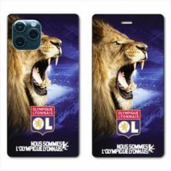 """RV Housse cuir portefeuille Iphone 11 Pro (6,1"""") Licence Olympique Lyonnais - Rage de vaincre"""